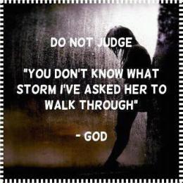 do not judge